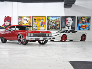 is his diverse collection of custom classics and the newest luxury cars.